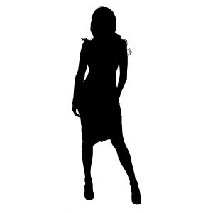 lady silhouette pose