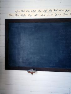 high school blackboard